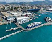 Aerial photo of Amico & Co shipyard, Genoa
